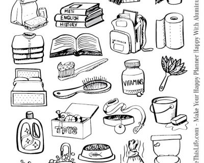 Hand Drawn Chore Icons Printable