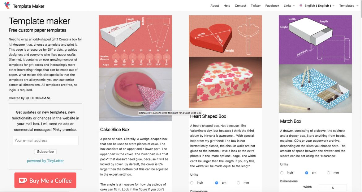 A free box template maker plan to love this life i think youll agree with me this is a must site to bookmark its a wonderful free resource to be able to create your own customized box templates pronofoot35fo Image collections