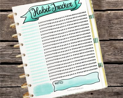 Hand Drawn Tracker Sheet Printable
